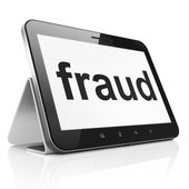 Safety concept: Fraud on tablet pc computer — Stock Photo