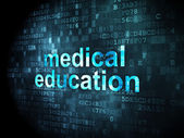 Education concept: Medical Education on digital background — 图库照片