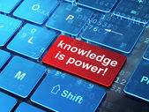 Education concept: Knowledge Is power! on computer keyboard back — Stock Photo