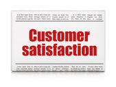 Marketing news concept: newspaper headline Customer Satisfaction — Stock Photo