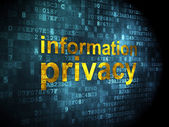 Privacy concept: Information Privacy on digital background — Foto de Stock