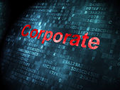 Finance concept: Corporate on digital background — Stock Photo