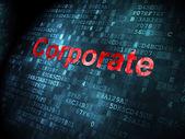 концепция финансирования: корпоративные на фоне цифровой — Стоковое фото