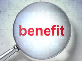 Business concept: Benefit with optical glass — Foto de Stock