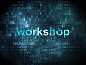 Education concept: Workshop on digital background — Stock Photo