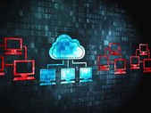 Cloud networking concept: Cloud Technology on digital background — Stock Photo