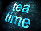 Timeline concept: Tea Time on digital background — Stock Photo