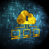 Cloud technology concept: Cloud Network on digital background — Stock Photo