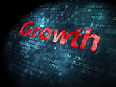 Business concept: Growth on digital background — Stock Photo