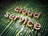 Cloud technology concept: Cloud Service on circuit board backgro — Stock Photo