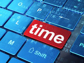 Timeline concept: Time on computer keyboard background — Stok fotoğraf