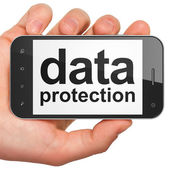 Protection concept: Data Protection on smartphone — Stock Photo