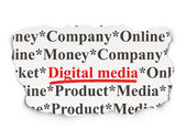 Marketing concept: Digital Media on Paper background — Stock Photo