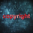 Marketing concept: Copyright on digital background — Stock Photo