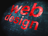 SEO web development concept: Web Design on digital background — Stock Photo