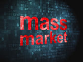 Marketing concept: Mass Market on digital background — Stock Photo