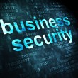 Privacy concept: Business Security on digital background — Stock Photo