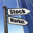 Stock Photo: Finance concept: Stock Market on Building background