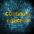 Stock Photo: Education concept: Continuing Education on digital background