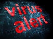Safety concept: Virus Alert on digital background — Stock Photo