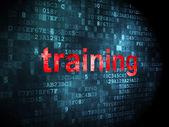 Education concept: Training on digital background — Stock Photo