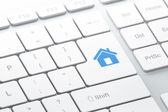 Security concept: Home on computer keyboard background — Foto de Stock
