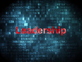 Business concept: Leadership on digital background — Stock Photo