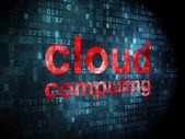 Cloud networking concept: Cloud Computing on digital background — Foto de Stock