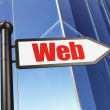 Stock Photo: Web development concept: Web on Building background