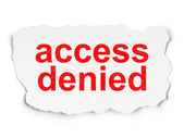 Protection concept: Access Denied on Paper background — Stockfoto