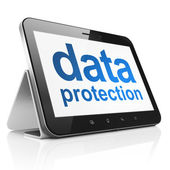 Protection concept: Data Protection on tablet pc computer — Stock Photo
