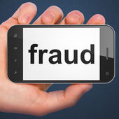 Safety concept: Fraud on smartphone — Stock Photo