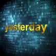 Time concept: Yesterday on digital background — Stockfoto