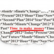 Time concept: Time to Make money on Paper background — Stockfoto