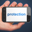 Stock Photo: Privacy concept: Protection on smartphone