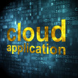 Cloud technology concept: Cloud Application on digital backgroun — Stock Photo