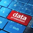 Stock Photo: Privacy concept: DatProtection on computer keyboard background