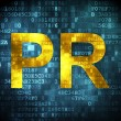 Stock Photo: Marketing concept: PR on digital background