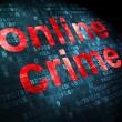 Security concept: Online Crime on digital background — Photo