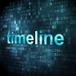 Timeline concept: Timeline on digital background — Foto Stock