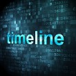 Timeline concept: Timeline on digital background — Stockfoto