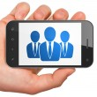 News concept: Business People on smartphone — Stock Photo