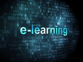 Education concept: E-learning on digital background — Foto de Stock