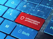 Privacy concept: Contoured Shield and Information Protection on — Stock Photo