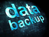 Data concept: Data Backup on digital background — Stock Photo