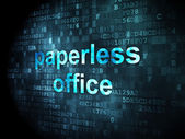 Finance concept: Paperless Office on digital background — Foto de Stock
