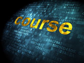 Education concept: Course on digital background — Stock Photo