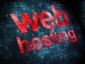 Conceito de Seo web design: Web Hosting em fundo digital — Fotografia Stock