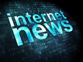News concept: Internet News on digital background — Stock Photo