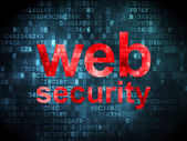 Protection concept: Web Security on digital background — Stockfoto